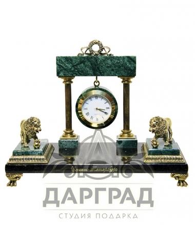 """Купить настольный часы """"Львы Петербурга"""""""