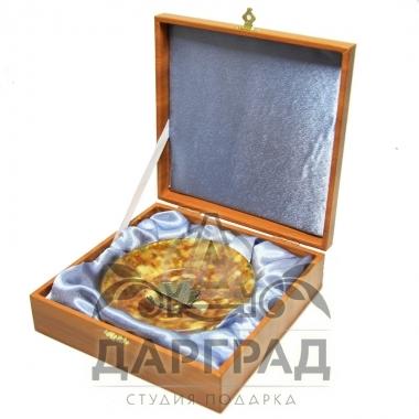 """Купить Тарелка из янтаря """"Исаакиевский собор"""" в магазине подарков Дарград"""