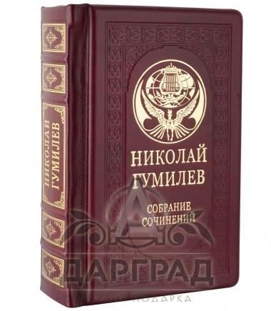 Подарочное издание книги «Николай Гумилев» в кожаном переплете