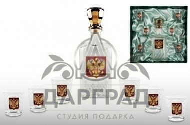 """Набор для крепких напитков """"Официальный прием"""" в подарок мужчине"""