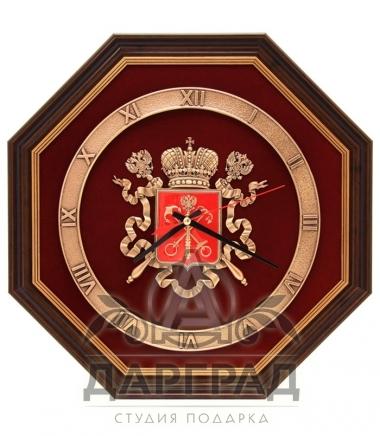 Купить Интерьерные часы «Герб Петербурга» в подарок директору