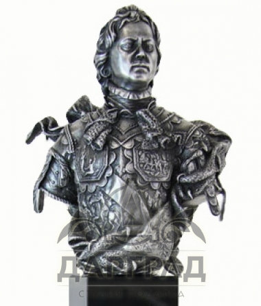 Настольная скульптура «Бюст Петра Великого»
