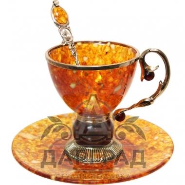 Чайная пара из янтаря «Саламандра»