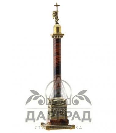 Купить Александрийский столп малый из коричневого камня обсидиана