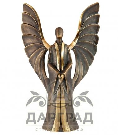 Авторская композиция Ангел-Наставник из бронзы