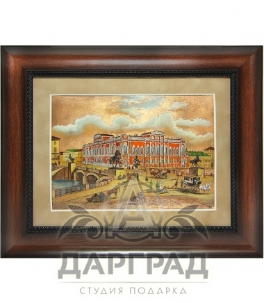 Купить Гравюра на металле «Аничков мост» в магазине подарков Дарград Санкт-Петербург