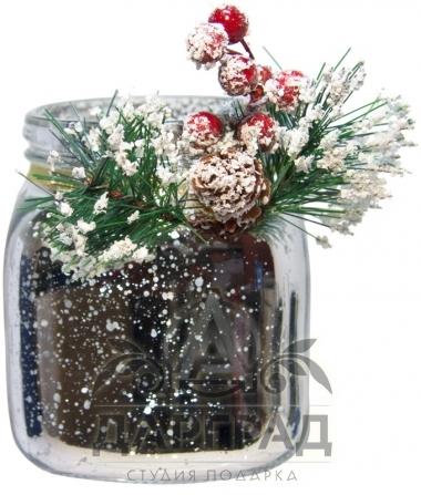 Новогодняя вазочка (серебро) купить в магазине подарков Dargrad.ru