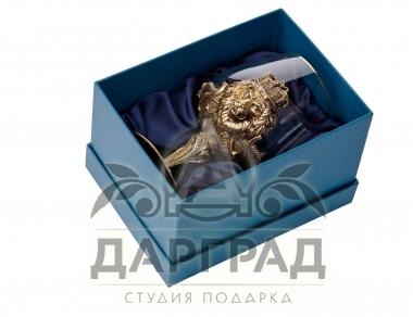 Бокал для крепких напитков «Царь зверей» в подарок руководителю купить в магазине Дарград