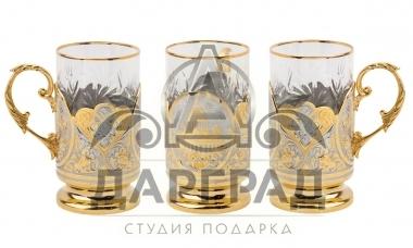 """Чайный набор """"Золотой Петербург"""" (Златоуст) фото 1"""