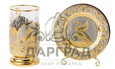 """Чайный набор """"Золотой Петербург"""" (Златоуст) фото 2"""