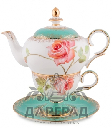 """Купить Чайный набор """"Миланская роза"""" в подарок женщине"""