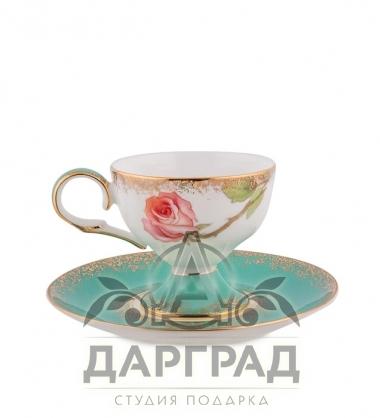 """Чайный набор """"Миланская роза"""" с доставкой по СПб"""