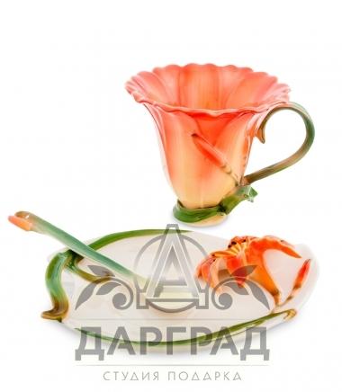 Чайная пара «Лилия» в подарок на 8 марта
