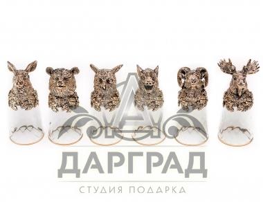 Купить в москве Набор стопок «Дикие звери» в подарок