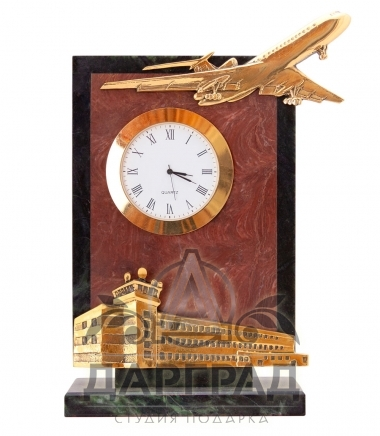 Настольные часы «Аэропорт» в подарок пилоту самолета