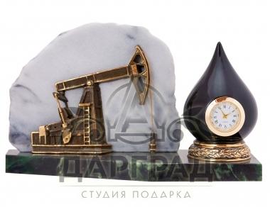 Заказать подарок  с доставкой Настольные часы «Нефтяная качалка»