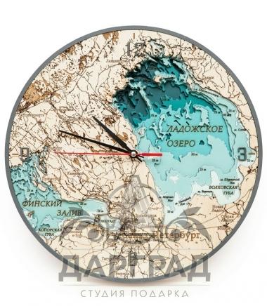 Объемные часы «Водные объекты Санкт-Петербурга»