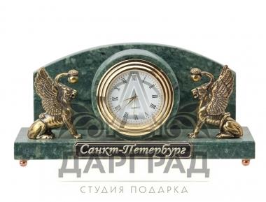 """Заказать Настольные часы """"Грифоны"""" (мрамор) в интернет магазине подарков Дарград"""