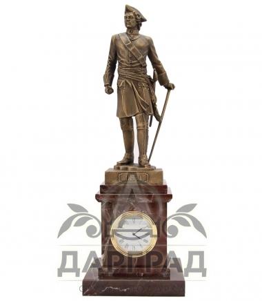Настольные часы «Петр Великий» яшма в магазине подарков Дарград