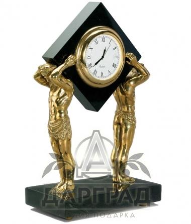 Купить Настольные часы «Атланты» эксклюзивный подарок с символикой Петербурга