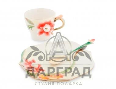 Чайная пара «Георгин» в подарок женщине