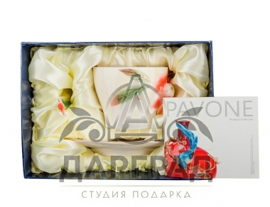 новогодний подарок Чайная пара «Георгин»