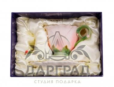 Чайная пара «Герань» в подарочной коробке