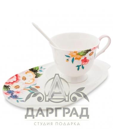Чайная пара «Королева Камилла» из фарфора с ручной росписью