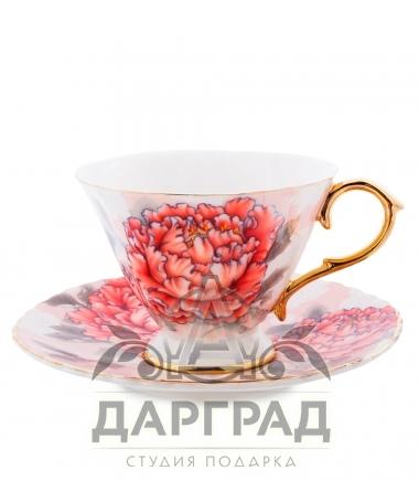 чашка с блюдцем Чайный набор «Аморе» для женщины