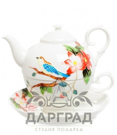 Чайный набор «Райская птица» в подарок женщине