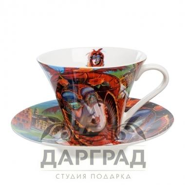 """купить Чайная пара """"Венецианские маски"""" вар.1 с доставкой по Петербургу"""