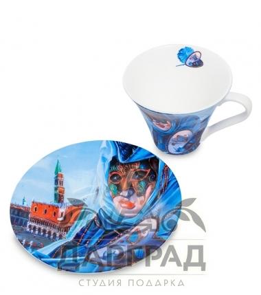 """Купить Чайная пара """"Венецианские маски"""" вар.2 в магазине подарков дарград"""