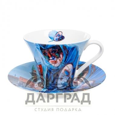 """купить Чайная пара """"Венецианские маски"""" вар.2 с доставкой по Петербургу"""