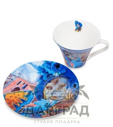 """Купить Чайная пара """"Венецианские маски"""" вар.4 в магазине подарков дарград"""