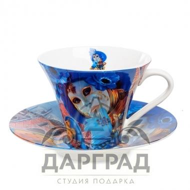 """купить Чайная пара """"Венецианские маски"""" вар.4 с доставкой по Петербургу"""