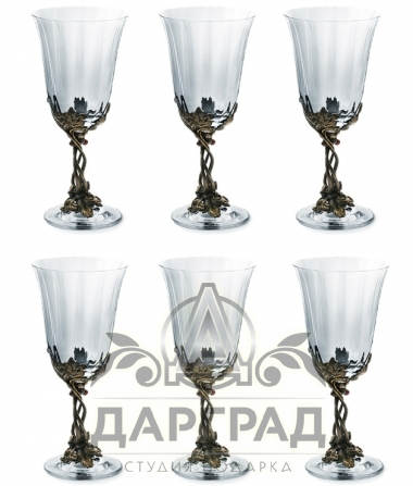"Набор бокалов для вина ""Смородина"" 6 шт"