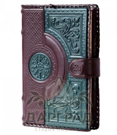 Купить подарок мужчине Кожаный ежедневник «Узор»