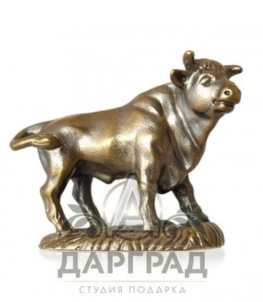 "Фигурка ""Бык"" бронза символ 2021 года"