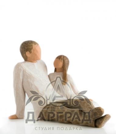 """Фигурка """"Отец и дочь"""" (Willow Tree)"""