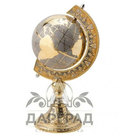 Купить позолоченный глобус мира в подарок