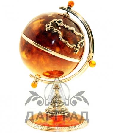Сувенир из янтаря «Глобус»