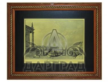 """Заказать Гравюра на металле """"Адмиралтейская площадь"""" в интернет магазине подарков"""