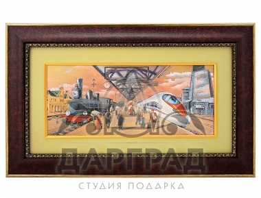 Заказать Гравюра на металле «Связь эпох» в магазине подарков Дарград