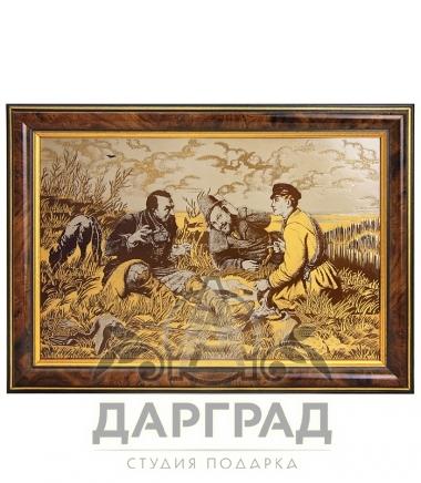 Купить в подарок охотнику Настенное панно «Охотники» (Златоуст)