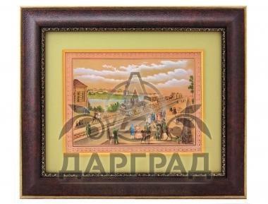 заказать Гравюра на металле «Первый поезд» с доставкой по Петербургу