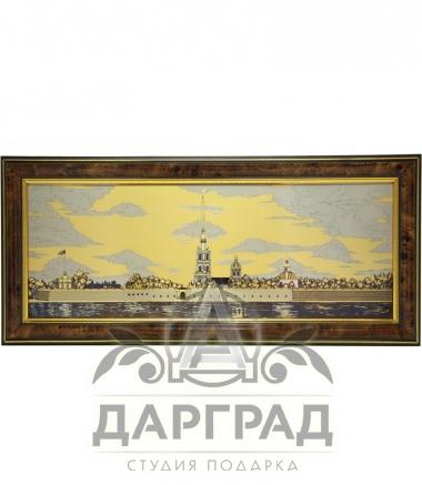 Гравюра на стали «Вид на Петропавловскую крепость»