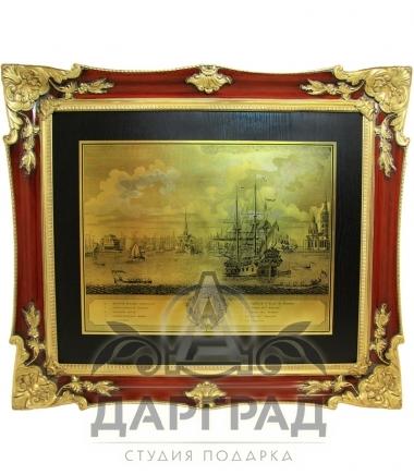 Гравюра в парадной раме «Адмиралтейство»