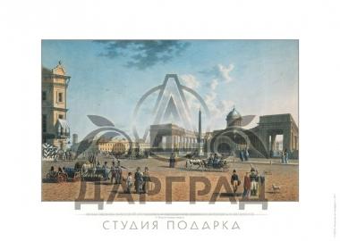 Гравюра на бумаге Казанский собор