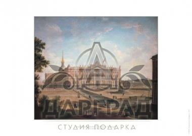 Гравюра на бумаге Михайловский замок