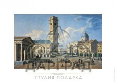 гравюра на бумаге Невский проспект